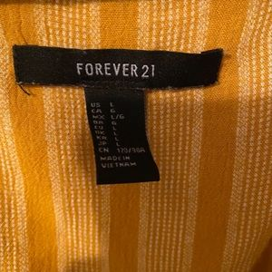 Forever 21 Tops - Forever 21 Striped Yellow Crop Top